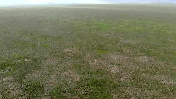 Vast Empty Meadow of Central Asian Plateau