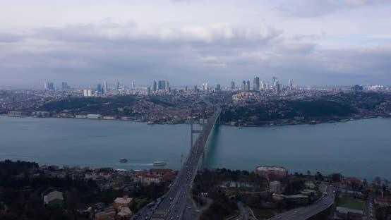 Thumbnail for Istanbul Bosphorus Bridge Aerial Hyperlapse