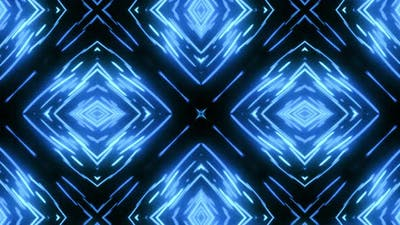 Blue and black abstraction with changing shapes