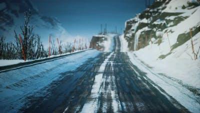 Winter Road on Lofoten Islands