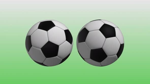 4K Soccer Balls Background Seamless Loop V2
