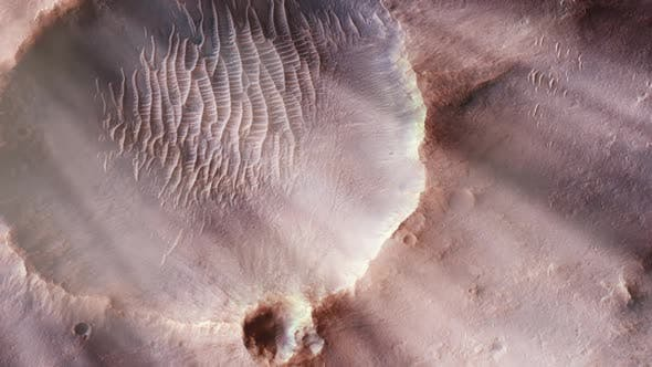 Thumbnail for Martian Crater from Space.