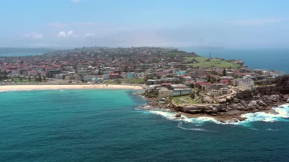 Thumbnail for Bondi Beach a Famous Surfing Spot Close to Sydney From the Air