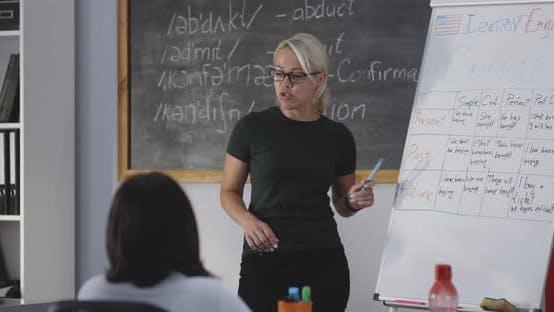 Thumbnail for Teacher Explaining While Using Flip Chart
