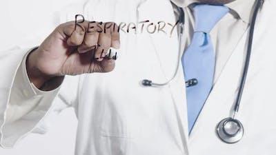 Asian Doctor Writes Respiratory Illness