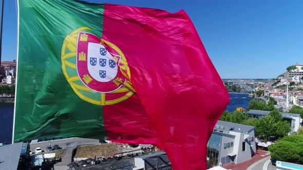 Thumbnail for Big Portugal Flag in Historic City of Porto, Portugal