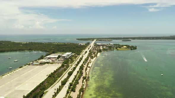 Aerial Video Miami Virginia Key