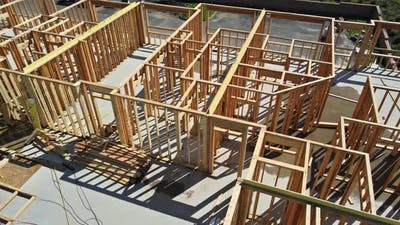 Home Framing a Single Family Under Construction
