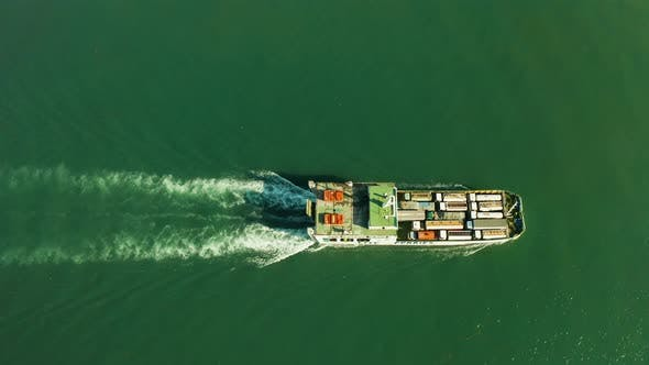 Thumbnail for Cargo Ship in the Blue Sea, Cebu, Philippines.