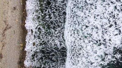 Beautiful sea waves. Foamy wave, water texture. Sea expanse landscape