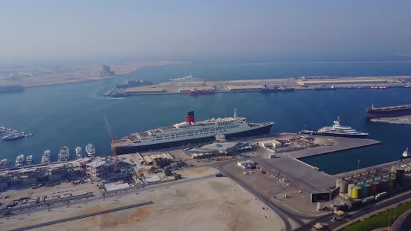 Thumbnail for Huge Cruise Ship Is On The Water