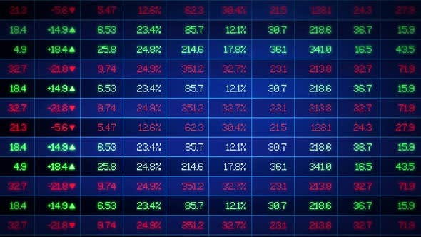 Thumbnail for Stock Market Exchange Ticker Board