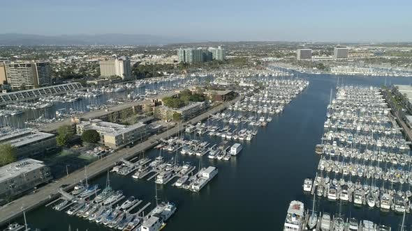 Thumbnail for Aerial of the marina and Marina del Rey