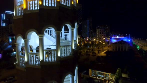 Thumbnail for Arched Staircase of Tower in Batumi Georgia, Restaurant and Brewery, Recreation