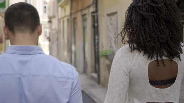 Thumbnail for Multiethnic Couple Walking in Old European City