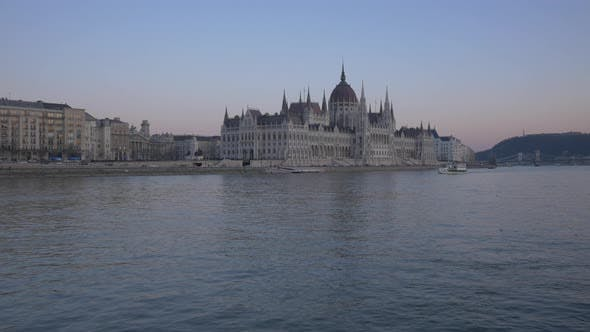 Thumbnail for The Hungarian Parliament Building at dusk