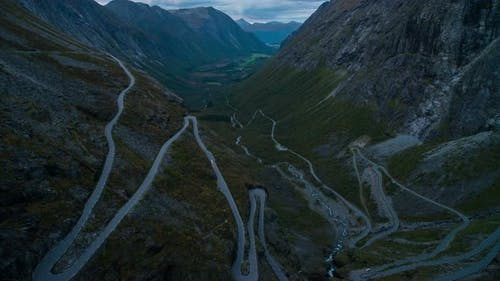 Evening Trollstigen Road