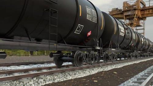 Refinery Oil Industry Freight Train Transportation Crude Fuel Via Railroad