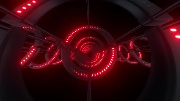 4k Colored Radial Neon Lights Tunnels Pack
