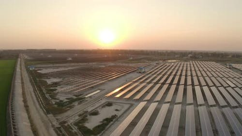 Solar Cell With Sunset