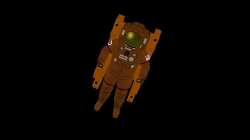 Astronauts float in outer space