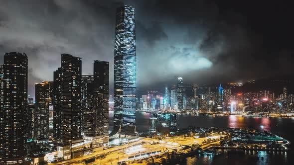 Thumbnail for Hyperlapse Time-Lapse of Hong Kong Cityscape at Night