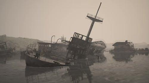 Ship Cemetery in the Sea