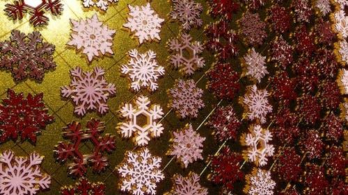 Rotating Golden Snowflakes 11