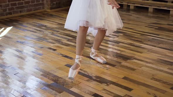 Thumbnail for Young Ballet Dancer in White Ballet Shoes