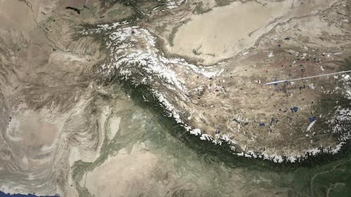 Route of a Plane Flying To Islamabad Pakistan