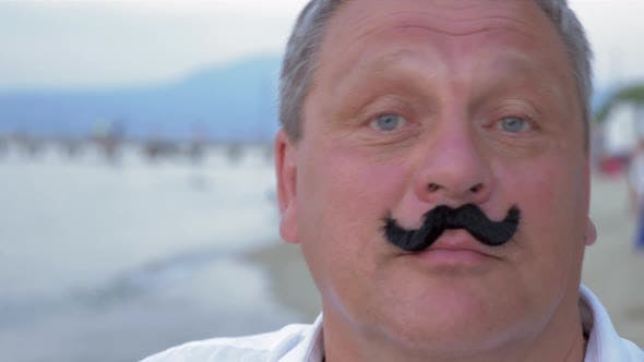 Thumbnail for Senior Man with Fake Mustache