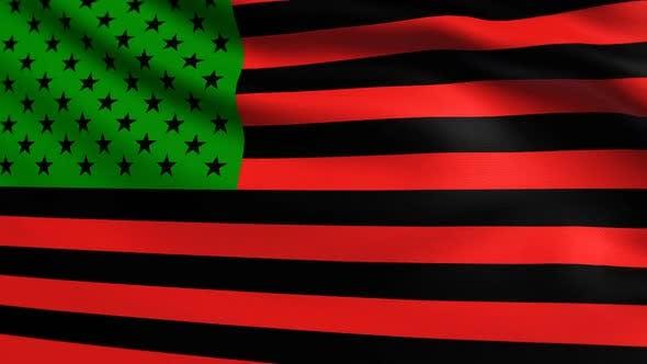 Afrikanische Amerikanische Flagge