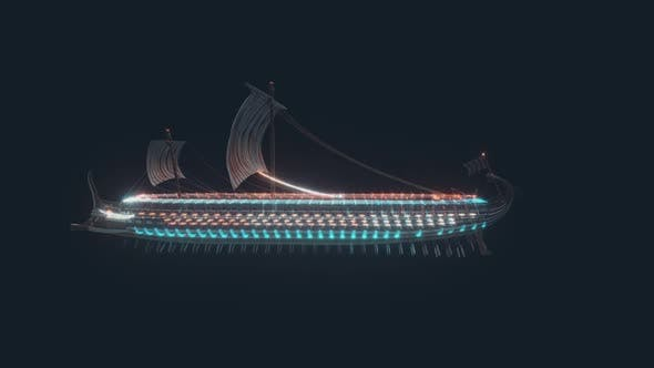 Trireme Ancient Greek And Roman War Ship Hud Hologram Hd