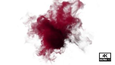 Flow Of Dark Red Smoke