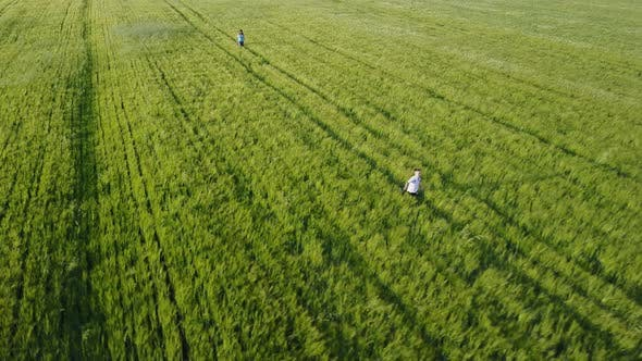 Thumbnail for Mother and Son at Wheat Field