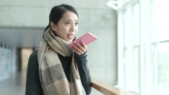 Thumbnail for Asian woman use of mobile phone in university campus