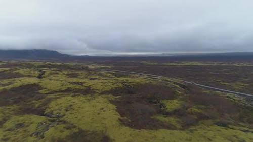 Fissures in Thingvellir National Park. Iceland. Aerial View