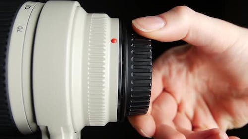 Lens Cap with Clipping Path, on Black