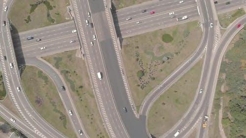 Automobile Transport Interchange in Kyiv. Ukraine. Aerial
