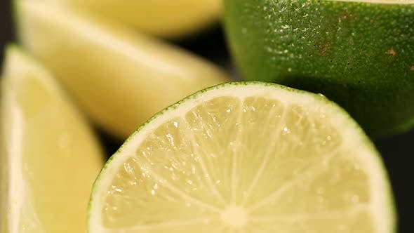 Thumbnail for Refreshing Sour Green Lime Cut Citrus Fruit Rich in Vitamin C Aromatherapy