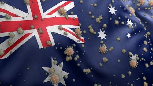 Covid Australia Flag / Corona Australia Flag
