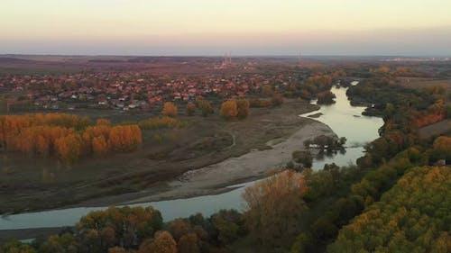 Aerial View Of Maritsa River In Bulgaria 1
