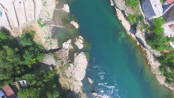 Thumbnail for Aerial view of Neretva river in Bosnia