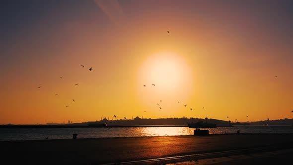 Thumbnail for Sunset in Bosphorus Istanbul