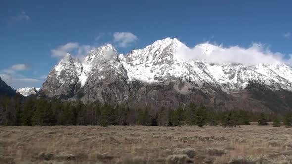 Thumbnail for Mountain in Autumn Peaks Snow-capped in Grand Teton National Park Wyoming