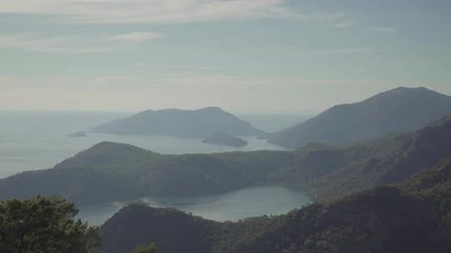 Fethiye Bay View From Mountain 4K