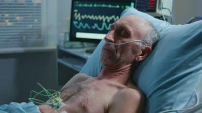 Patient Sleeping in Hospital