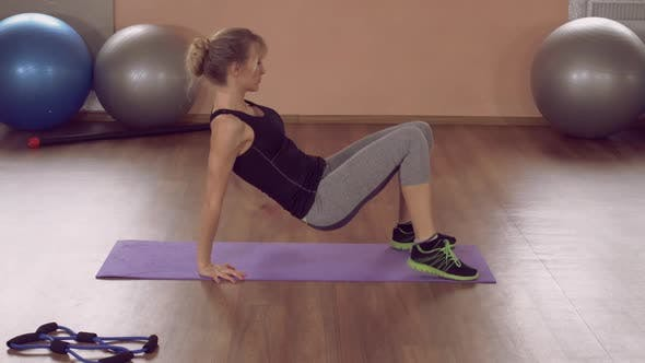 Thumbnail for Girl Doing Physical Exercises for Strong