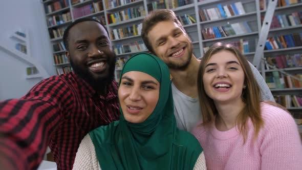 Thumbnail for International Students Posing for Selfie Shot