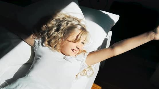 Girl Waking Up in Morning